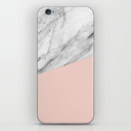 Marble and Pale Dogwood Color iPhone Skin