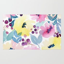 Tropical Poppies Rug