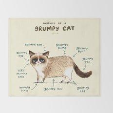 Anatomy of a Grumpy Kitty Throw Blanket