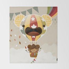 Chestnut Girl Balloon!!! Throw Blanket