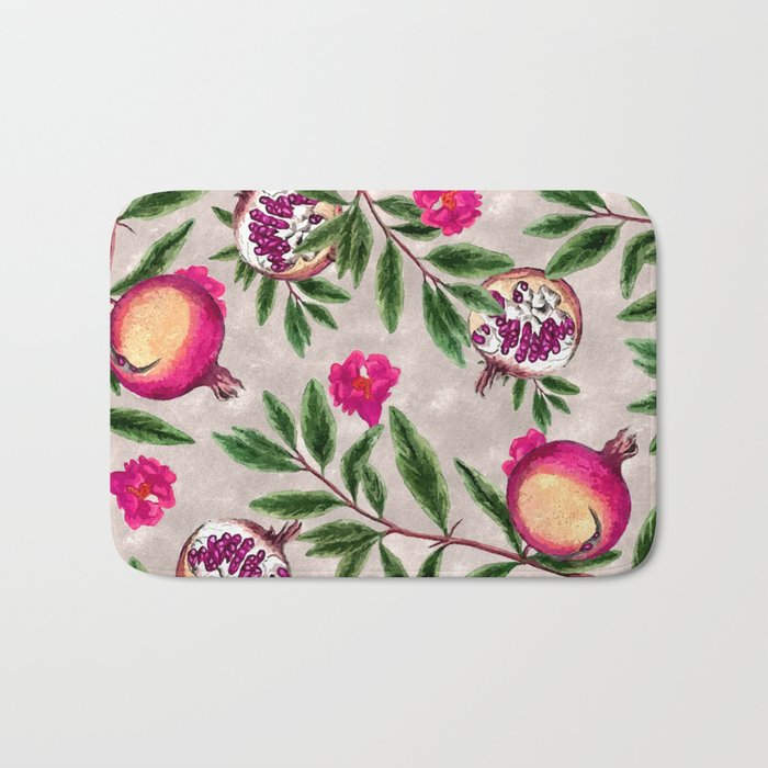 Pomegranate Pattern #society6 #decor #buyart Bath Mat