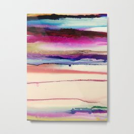 The Sun Sets and Rises Again (an Abstract of Hope) Metal Print