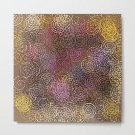 2000 spirals Many colorful spirals Metal Print