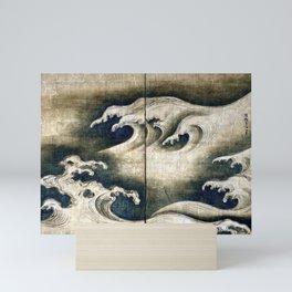 Ogata Kōrin Rough Waves Mini Art Print