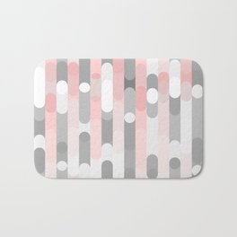 pink and gray round rectangle Bath Mat