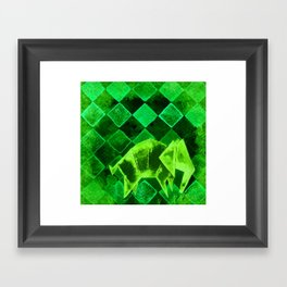 Elephant Origami 2 Framed Art Print