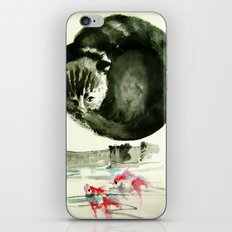 cunning cat iPhone & iPod Skin