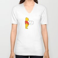 winnie the pooh V-neck T-shirts featuring WINNIE THE POOH by DrakenStuff+
