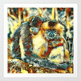 AnimalArt_Gibbon_20170901_by_JAMColorsSpecial Art Print