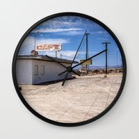cafe Wall Clocks featuring cafe by petervirth photography