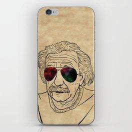 Albert wears his sunglasses at night iPhone Skin