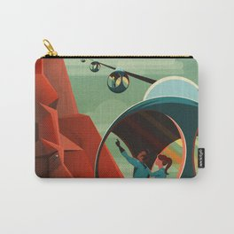 Mars Retro Space Travel Poster Carry-All Pouch