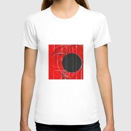 Black Dot Sticker Abstract T-shirt