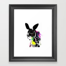 Bunny gone Framed Art Print