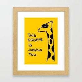 Judging Giraffe Framed Art Print
