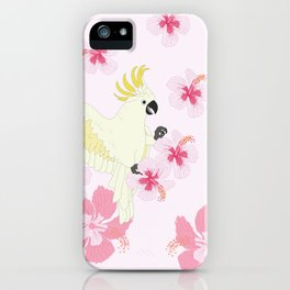 Polly's Pink Hibiscus Party iPhone Case
