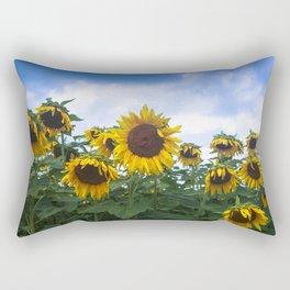 Nodding Sunflowers Rectangular Pillow