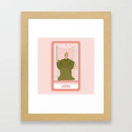 Tarot Card XI: (Supreme Court) Justice Framed Art Print