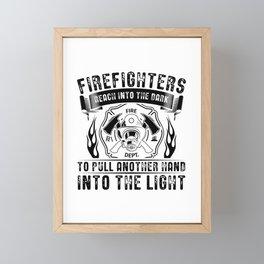 Firefighters | Firefighter Profession Gift Idea Framed Mini Art Print