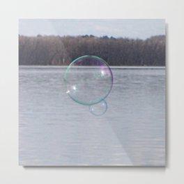 Bubblescape Metal Print