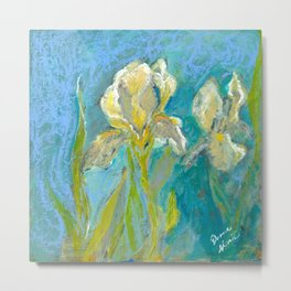 Yellow Irises Metal Print