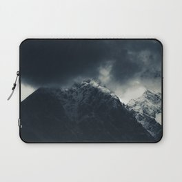 Darkness and storm clouds over mountains Laptop Sleeve