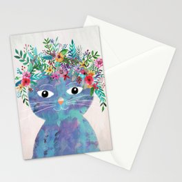 Flower cat II Stationery Cards