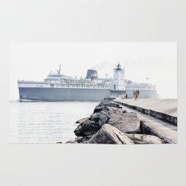 Badger Car Ferry - Ludington Michigan Rug