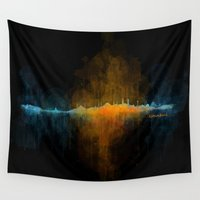 islam Wall Tapestries featuring Istanbul City Skyline Hq v4 by HQPhoto