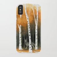 freeminds iPhone & iPod Cases featuring Autumn Wolf by Freeminds