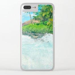 Aloha mai e Pā'ako Beach Mākena Maui Hawaii Clear iPhone Case