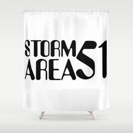 Storm Area 51 Shower Curtain