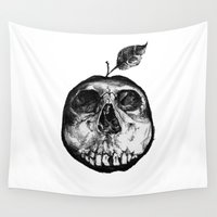 apple Wall Tapestries featuring Apple by Nikole Stark
