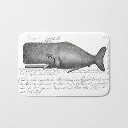 Vintage nautical scrimshaw whale steampunk hipster Bath Mat
