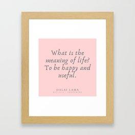 126 | Dalai Lama Quotes 190504 Framed Art Print