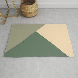 Tan meets Sage & Cactus Green Geometric #1 #minimal #decor #art #society6 Rug