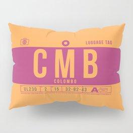 Baggage Tag B - CMB Colombo Sri Lanka Pillow Sham