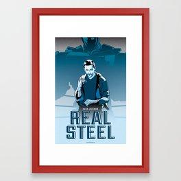 Real Steel - Tribute Poster Framed Art Print