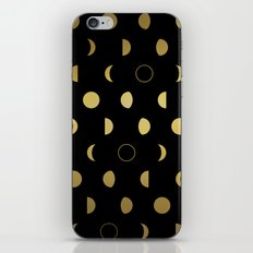 Gold Moon Phases iPhone Skin