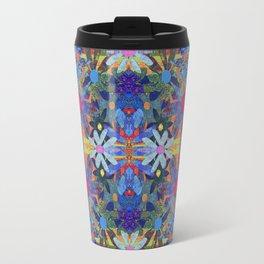 Garden Party - Blue Travel Mug