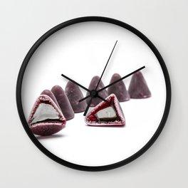 This pyramidal cuberdons Wall Clock
