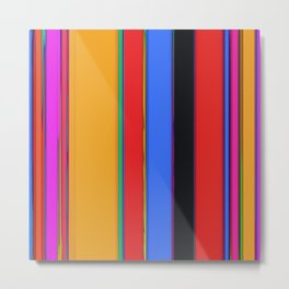 Bright stripes Metal Print