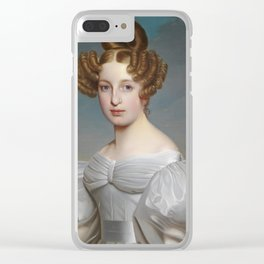 Portrait of Elise Dorothea Friederike by Ernst Thelott Clear iPhone Case