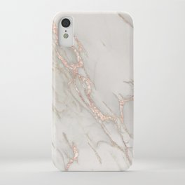 Marble Rose Gold Blush Pink Metallic by Nature Magick iPhone Case