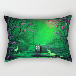Tardis Stay Lost In The Forest Rectangular Pillow