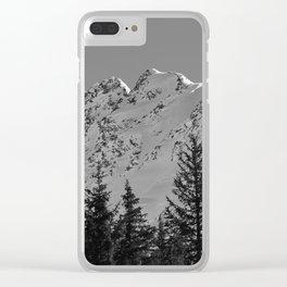 Gwin's Winter Vista - B & W Clear iPhone Case