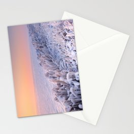 Sunrise over a frozen lake in The Netherlands Stationery Cards