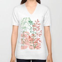 Floral nature Unisex V-Neck