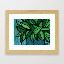Happy Little Plant Framed Art Print