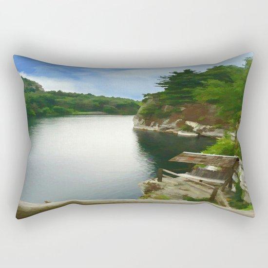 Majestic Mohonk Lake Rectangular Pillow